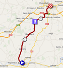 The map with the race route of the twentieth stage of the Tour de France 2014 on Google Maps