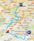 The map with the race route of the twentyfirst stage of the Tour de France 2014 on Google Maps