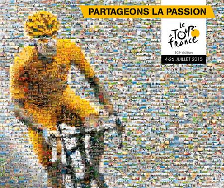 L'affiche provisoire du Tour de France 2015