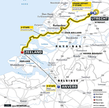 The Grand Départ with the 3 first stages of the Tour de France 2015