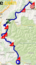 The map with the race route of the eighteenth stage of the Tour de France 2015 on Google Maps