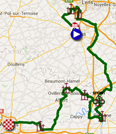 The map with the race route of the fifth stage of the Tour de France 2015 on Google Maps