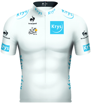 The new white jersey of the Tour de France 2015 (Krys)