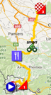 The map with the race route of the tenth stage of the Tour de France 2016 on Google Maps