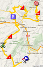 The map with the race route of the twentieth stage of the Tour de France 2016 on Google Maps