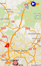 The map with the race route of the twenty-first stage of the Tour de France 2016 on Google Maps