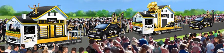 La caravane publicitaire de Century 21 sur le Tour de France 2017