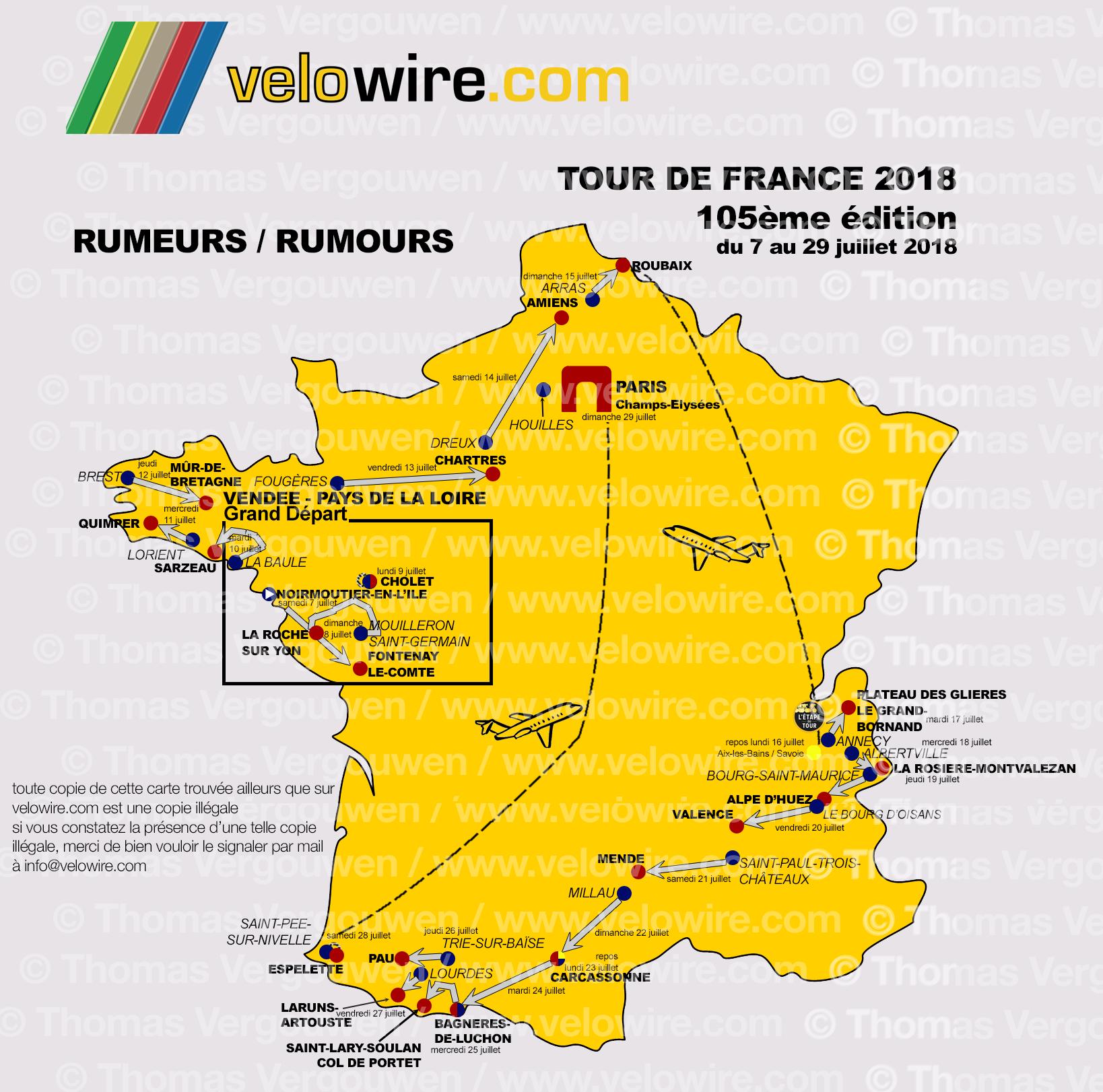 Tour De France 2018 Les Rumeurs Sur Le Parcours Et Les Villes