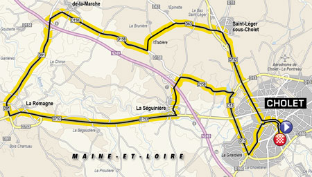 The map of the third stage of the Tour de France 2018