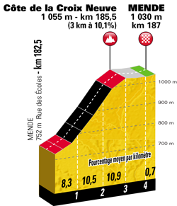 Profile of stage 14 of the Tour de France 2018