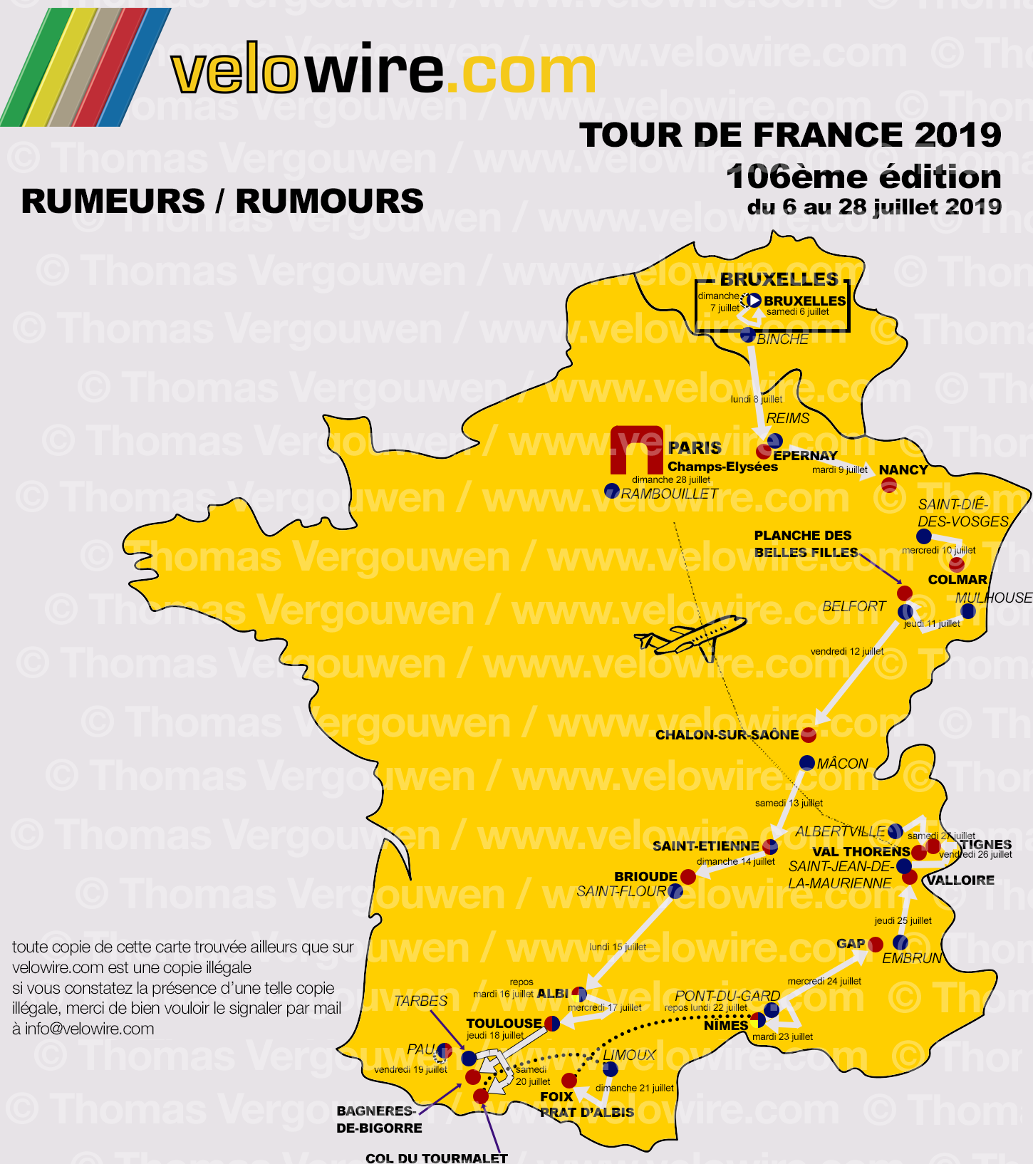 tour de france 2019 de geruchten over het parcours en de etappesteden blog. Black Bedroom Furniture Sets. Home Design Ideas