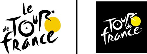 L'évolution du logo du Tour de France : celui jusqu'en 2018 à gauche et celui à partir de 2019 à droite