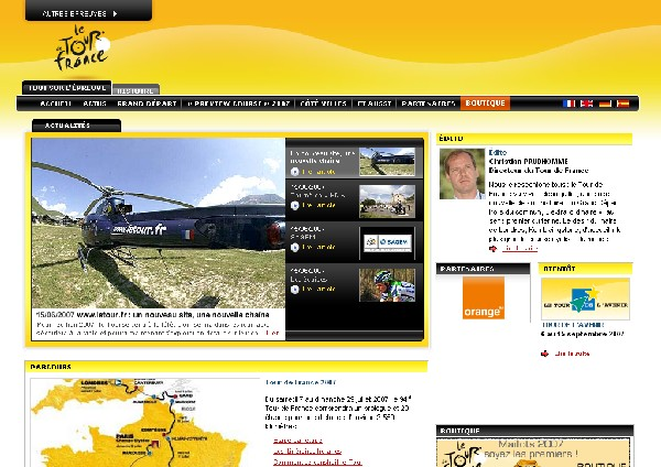 the new version of www.letour.fr