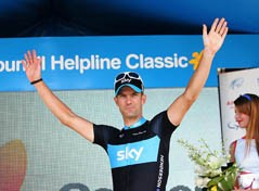 Greg Henderson (Team Sky) on the podium