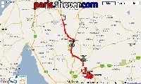 The map of the route of the stage Clare > Tanunda of the Tour Down Under 2010 on Google Maps