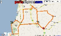 The map of the route of the stage Snapper Point > Willunga of the Tour Down Under 2010 on Google Maps