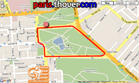 La carte du parcours du Cancer Council Classic sur Google Maps