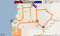 La carte du parcours de l'étape McLaren Vale > Willunga du Tour Down Under 2011 sur Google Maps