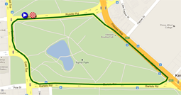 The map with the race route of the  Down Under Classic on Google Maps
