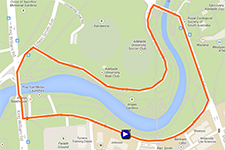The map with the race route of the People's Choice Classic on Google Maps