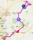 The map with the race route of the first stage du Tour Down Under 2015 sur Google Maps
