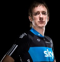 Bradley Wiggins shows the Team Sky jersey - © www.teamsky.com