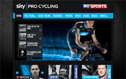 The Team Sky website