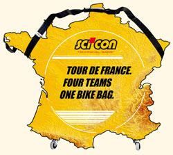 Sci'Con, de hoes van de ploegen van de Tour de France - © Sci'Con Bags
