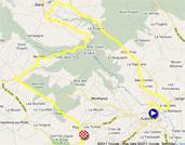 De kaart met het parcours van de vierde etappe van de Ronde van Romandië 2011 op Google Maps