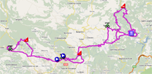 The map with the race route of the stage Draguignan > Draguignan of the Tour du Haut Var 2011 on Google Maps