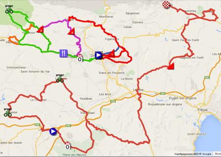 The tour du haut var 2015 race route in google mapsgoogle earth the map of the tour du haut var matin 2015 gumiabroncs Choice Image