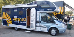 Le camping car de Vacansoleil Pro Cycling Team