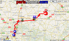 The first stage's route of the Tour du Limousin 2010 on Google Maps