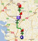 The map with the race course of the second stage of the Tour Poitou-Charentes 2011 on Google Maps