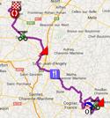 La carte du parcours de la première étape du Tour Poitou-Charentes 2014 sur Google Maps
