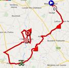 La carte du parcours de la troisième étape du Tour Poitou-Charentes 2014 sur Google Maps