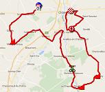 La carte du parcours de la troisième étape du Tour Poitou-Charentes 2016 sur Google Maps