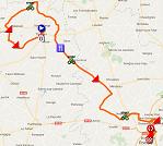 La carte du parcours de la cinquième étape du Tour Poitou-Charentes 2016 sur Google Maps