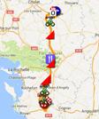 La carte du parcours de la première étape du Tour du Poitou-Charentes 2017 sur Google Maps