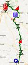 La carte du parcours de la cinquième étape du Tour du Poitou-Charentes 2017 sur Google Maps