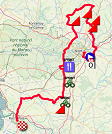 The map with the race route of the first stage of the Tour Poitou-Charentes en Nouvelle-Aquitaine 2019 on Open Street Maps