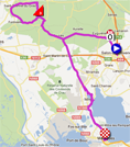 The map with the race route of the second stage of the Tour Med 2012 on Google Maps