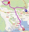 La carte du parcours de la deuxième étape du Tour Med 2012 sur Google Maps
