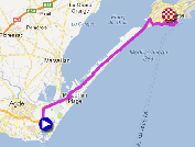The race route of the second stage of the Tour Med 2013 on Google Maps