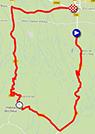 De kaart met het parcours van de vierde etappe van de Tour Med 2014 op Google Maps