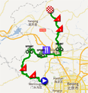 The map with the race course of the third stage of the Tour of Beijing 2011 on Google Maps