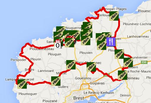 The tro bro lon 2015 race route on google mapsgoogle earth and the tro bro lon 2015 race route gumiabroncs Gallery