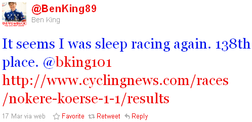 Ben King - tweet of the week