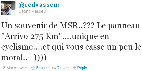 Cédric Vasseur - tweet of the week