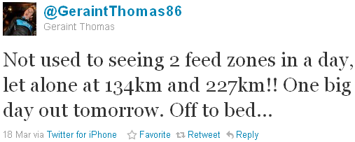 Geraint Thomas - tweet of the week